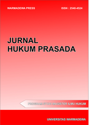 JURNAL HUKUM PRASADA is a peer-reviewed international law journal which published research articles and theoretical articles in law science. This journal provides immediate open access to its content on the principle that making research freely available